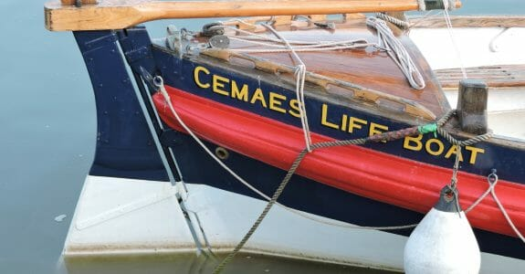 Stern of the Charles Henry Ashley classic lifeboat