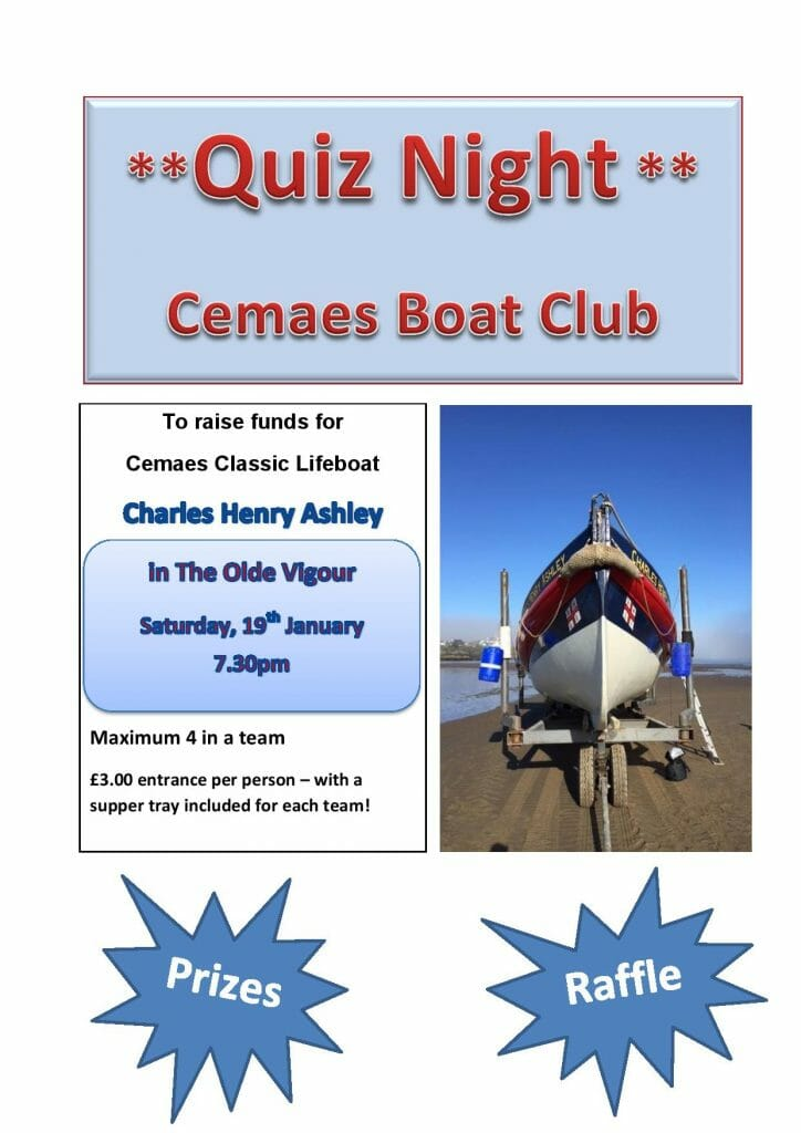 Details for Quiz Night January 19th
